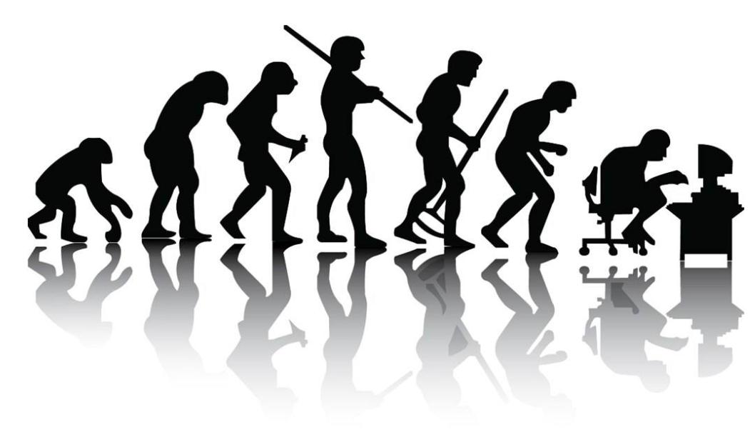这是一个猴子变成人的故事