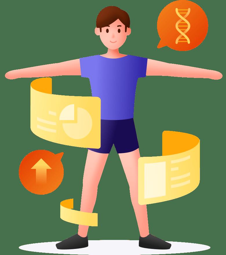 通过基因为你打造的饮食和运动计划稍后和你见面。关注23魔方,随时获得最新信息